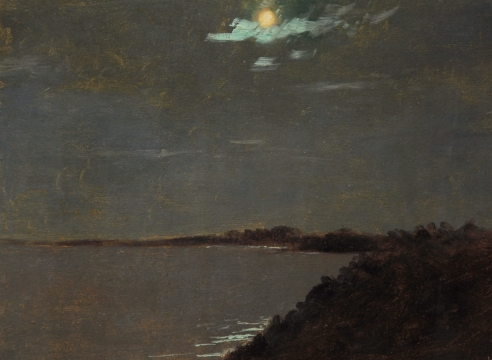 LOCKWOOD DE FOREST (1850-1932), Full Moonlight Over Shore, York Harbor, Maine, August 19, 1907