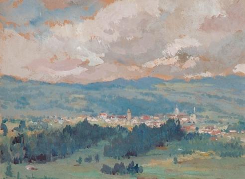 COLIN CAMPBELL COOPER (1856-1937), Pastoral Scene, c 1900