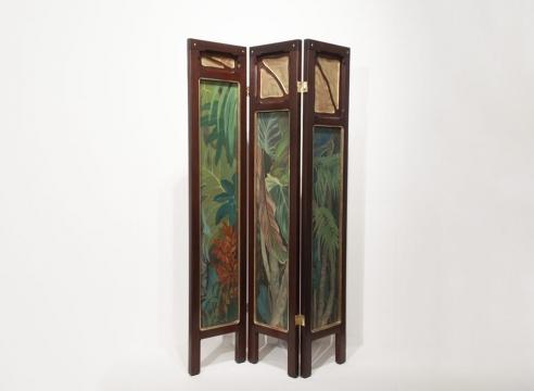 JESSIE ARMS BOTKE (1883-1971), Tropical Foliage - Three Panels, c. 1940