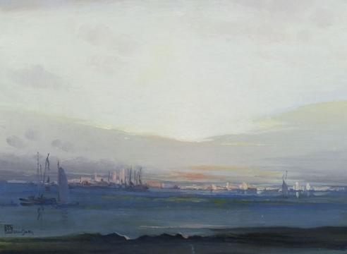 LEON DABO (1864-1960), View of Manhattan, c. 1920
