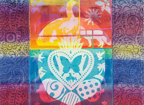 HOLLI HARMON, Serape Rainbow, 2020
