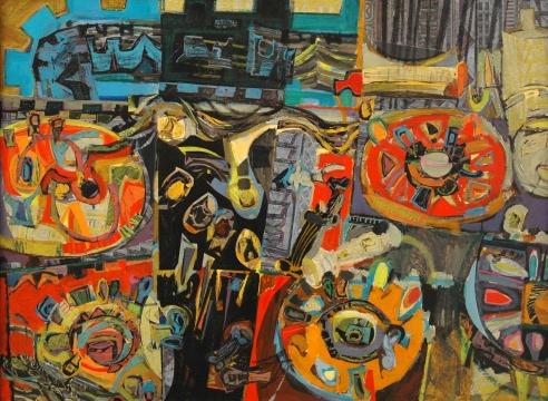 JOHN BERNHARDT (1921-1963), Radio Still Life - Major Work, 1956