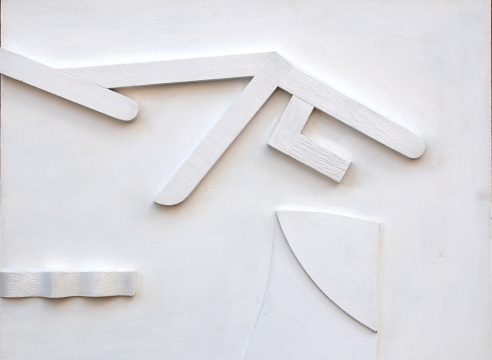 SIDNEY GORDIN (1918-1996), Untitled Relief White on Brown, c. 1962