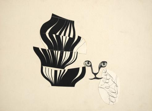 SIDNEY GORDIN (1918-1996), Constructivist Collage #3, 1944