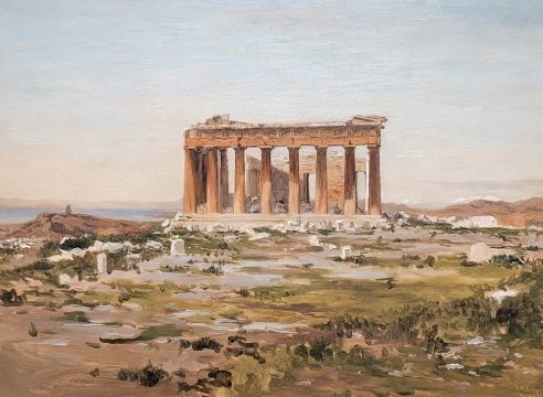LOCKWOOD DE FOREST (1850-1932), East Front of Parthenon, January 31, 1878