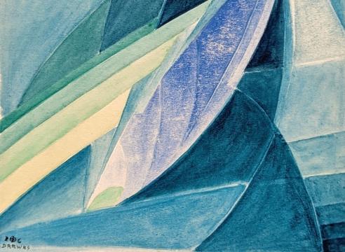 WERNER DREWES (1899-1985), Enfolding Light - Mural Design, 1926