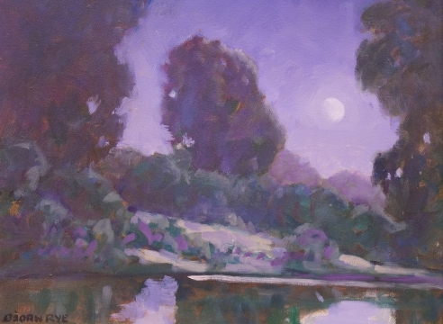 BJORN RYE (1942-1998), Moonlight, Santa Ynez River, 9/17/96