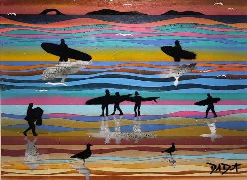 DAVID DIAMANT , Sunset Surfers 104, 2020