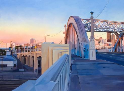 PATRICIA CHIDLAW, Dawn, Sixth St Viaduct, 2020