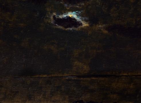 LOCKWOOD DE FOREST (1850-1932), Moon Behind Small, Single Cloud, Sept. 16, 1907