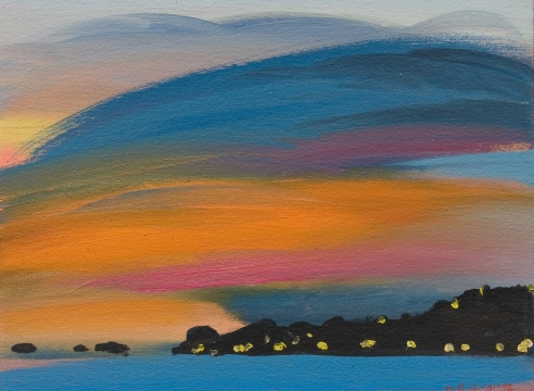 HANK PITCHER (b. 1949), New Year's Eve from Butterfly Beach, Dec. 31, 1992