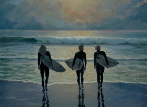 JON FRANCIS , Surfer Trio, 2020