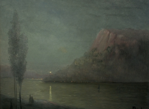 LEON DABO (1864-1960), Storm King on the Hudson, c. 1900