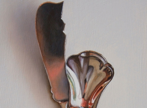 LESLIE LEWIS SIGLER , Silver Pair 1 - The Romantic and the Square, 2020