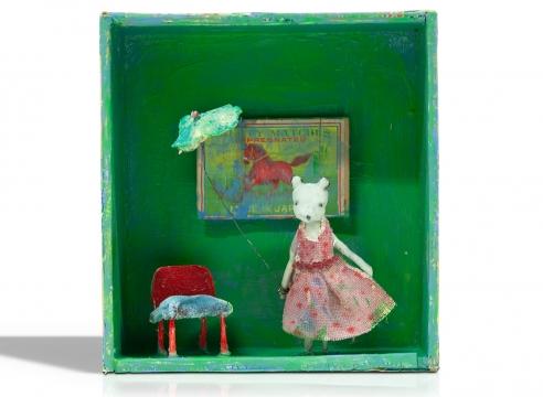 VIRGINIA McCRACKEN , Red Horse, Velvet Chair, 2020