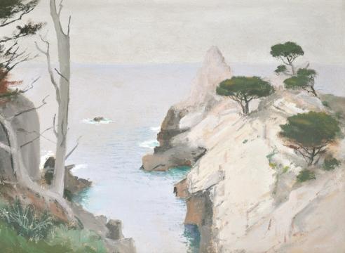 LOCKWOOD DE FOREST (1850-1932), The Pinnacle, Point Lobos II (Monterey), April 10, 1909