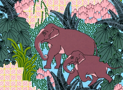 CLAUDIA  BORFIGA, Jungle Elephant