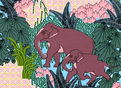 CLAUDIA  BORFIGA, Jungle Elephant