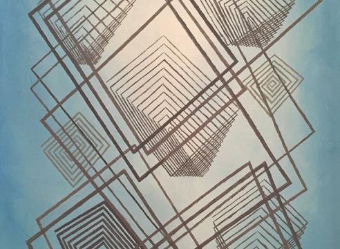 OSKAR FISCHINGER (1900-1967), Lines on Blue, 1961