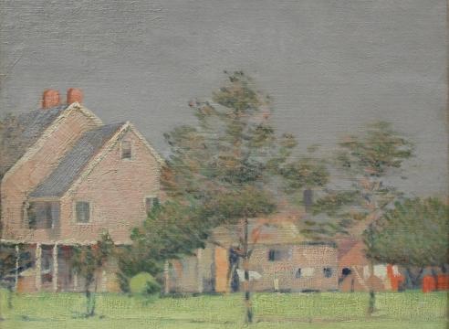 LEON DABO (1864-1960), Farm Near Hudson River, c 1890