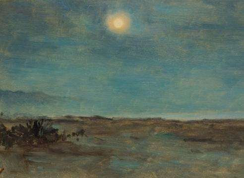 LOCKWOOD DE FOREST (1850-1932), Moonrise, Montecito, CA, Dec 13, 1905