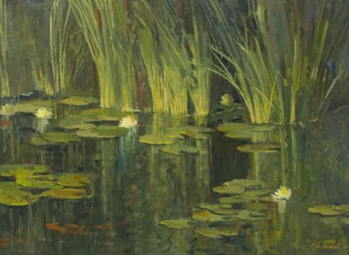 MEREDITH BROOKS ABBOTT, Robert's Pond, 2020