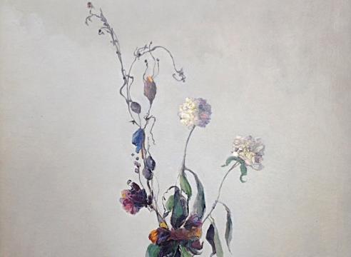 LEON DABO (1864-1960), Vase Blanc Avec Fleurs, c. late 1930s