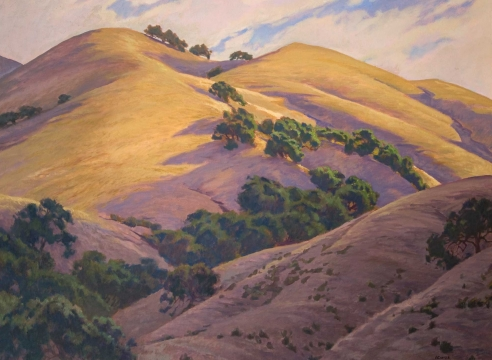 JOHN COMER, Golden Hills with Live Oaks