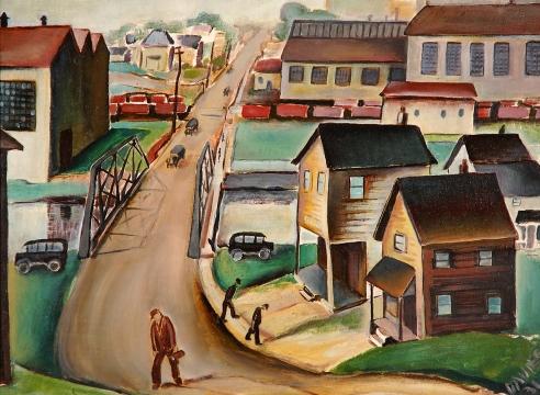 JOHN DAVIES (1901-1965), Stevenson Street, 1931