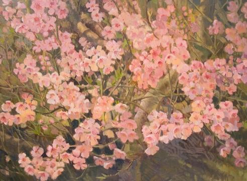 MEREDITH BROOKS ABBOTT, Peach Blossoms, 2020