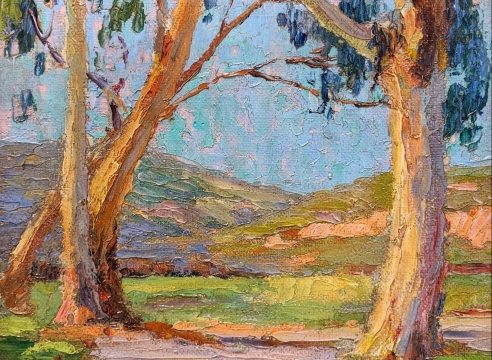 ANNA HILLS (1882-1930), Eucalyptus, Road to Hills, c.1920