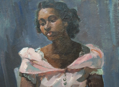 GRACE LIBBY VOLLMER (1884-1977), Portrait of a Black Woman, c. 1930s
