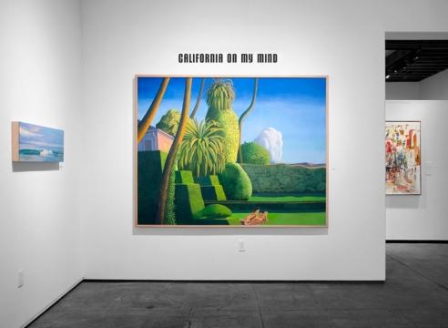 Installation photograph of California on my Mind, Mary-Austin Klein, Frank Kirk, Wosene Worke Kosrof, Jean Swiggett