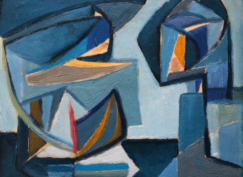 WERNER DREWES (1899-1985), Industrial Nocturne Study, 1951