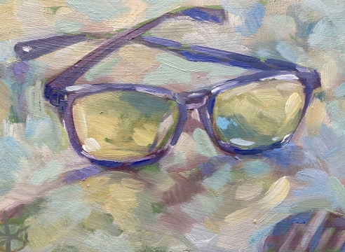 WHITNEY BROOKS ABBOTT , Aggie's Blue Light Glasses III , 2020