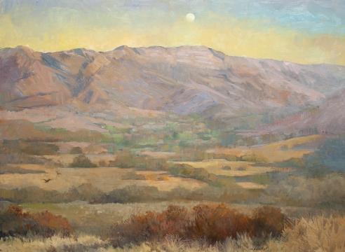 MEREDITH BROOKS ABBOTT, Waxing Moon Over Topa Topa, 2020