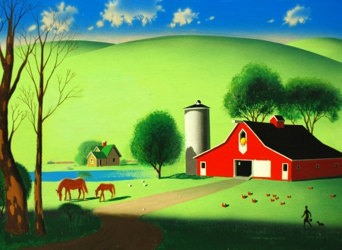 IRV WYNER (1904-2002), The Red Barn