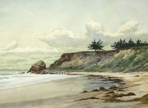 JOHN SYKES (1859-1934), Clouds over Castle Rock, c. 1900