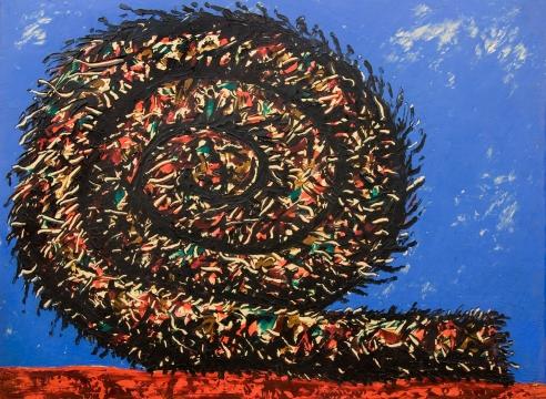 MICHAEL DVORTCSAK (1938-2019), Vertical Coil, 1980