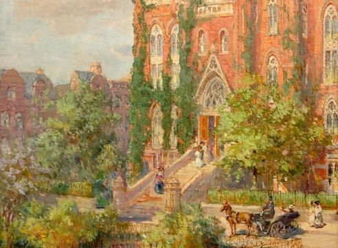 COLIN CAMPBELL COOPER (1856-1937), Hunter College, c. 1910