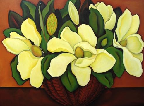 ANGELA PERKO, Large Magnolias, 2014