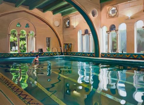 PATRICIA CHIDLAW, Pool, Berkeley, City Club, 2020