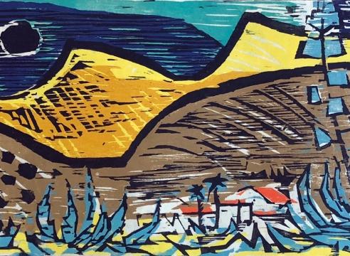WERNER DREWES (1899-1985), California Hills, 1959