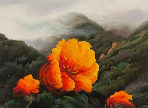 PHOEBE BRUNNER, Poppies in the Fog