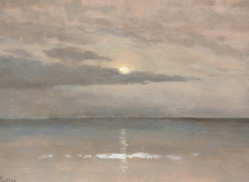LOCKWOOD DE FOREST (1850-1932), Summer Moonlight Over Ocean, Jul. 3, 1909