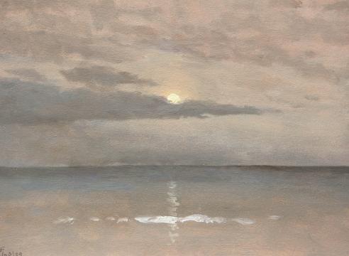 LOCKWOOD DE FOREST (1850-1932), Summer Moonlight Over Ocean, Jul. 3, 1909