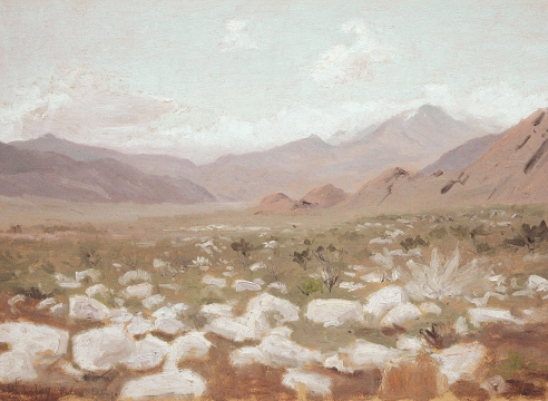 LOCKWOOD DE FOREST (1850-1932), Rocks in the Landscape, Palm Springs, Feb. 27, 1909