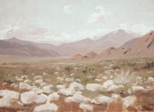 LOCKWOOD DE FOREST (1850-1932), Rocks in the Landscape, Palm Springs, Feb. 27, 1909