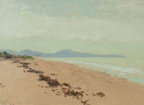 LOCKWOOD DE FOREST (1850-1932), Santa Barbara Rincon Peak & Point, Feb, 1919