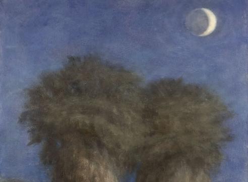 SARAH VEDDER , Quarter Moon and Palms, 2020